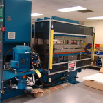 press, compression molding (laminating): Wabash 2002H